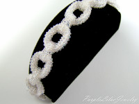 Bracelet woven in right angle weave with czech seed beads