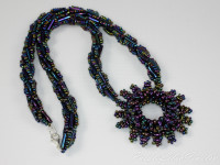 Handmade Beaded Necklace | Czech Twin Beads
