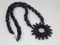 Handmade Beaded Necklace | Czech Twin Beads